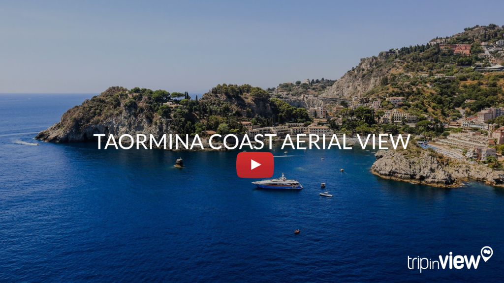 Taormina coast aerial view