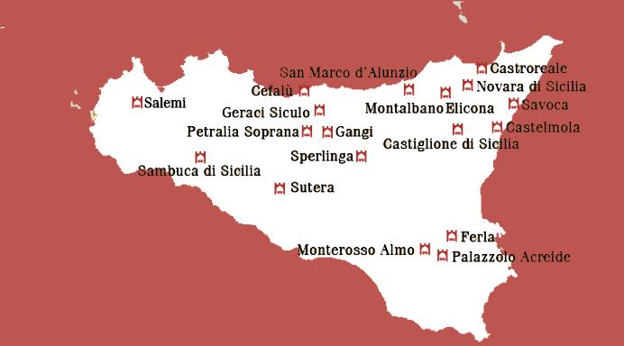 Mappa Borghi in Sicilia