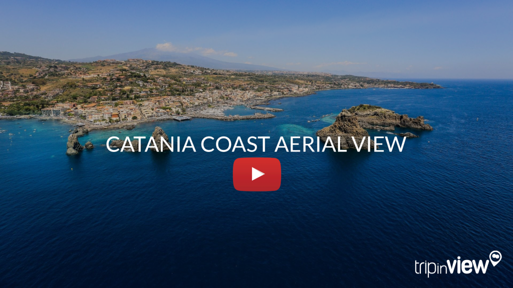 CATANIA coast aerial view
