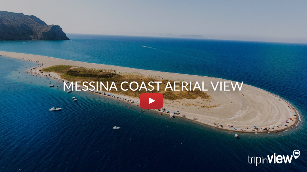 Messina coast aerial view