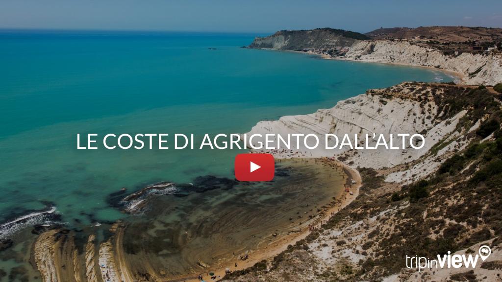 Le coste di Agrigento dall'elicottero