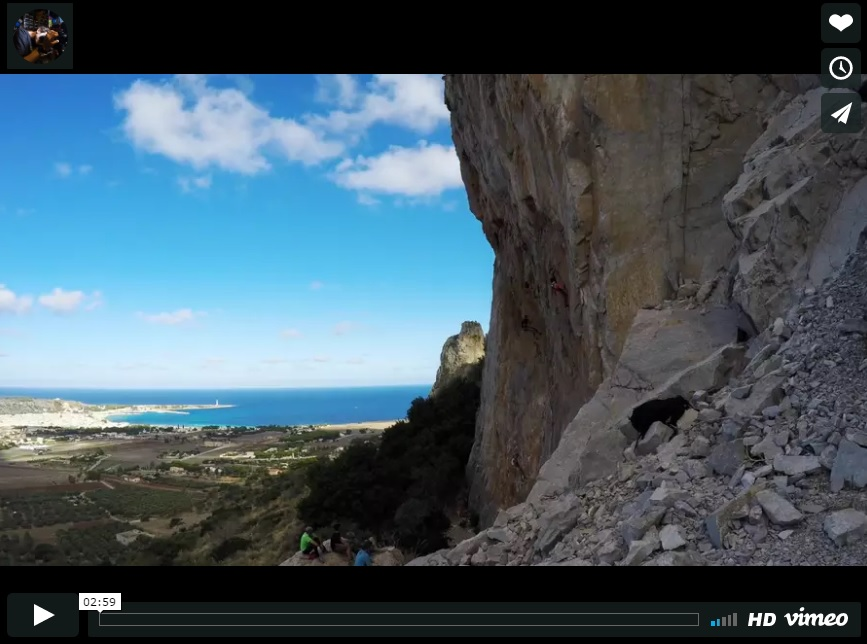 immagine video vimeo san vito climbing fest