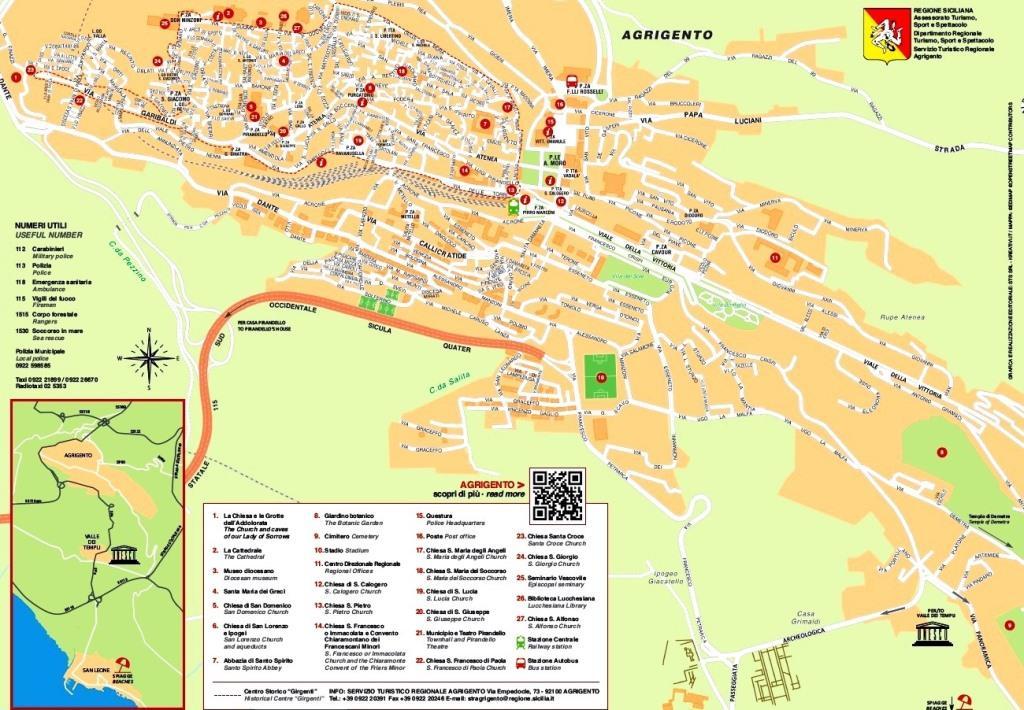 Mappa Turistica Agriento
