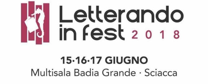 Letterando in Fest   15-17 giugno 2018 a Sciacca