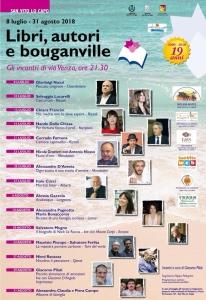 Libri, autori e bouganville a cura di Giacomo Pilati dall'8 luglio al 31 agosto 2018 a San Vito Lo Capo