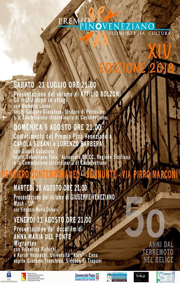 Premio Pino Veneziano 2018 - XIV edizione
