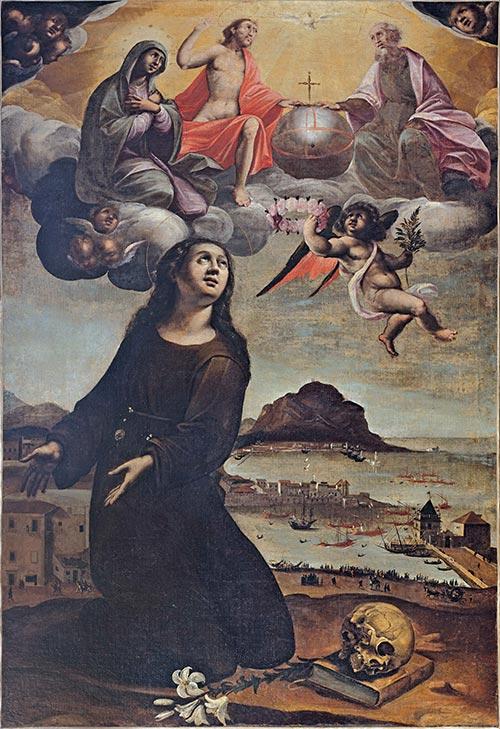 PALERMO_MuseoDiocesano_-Vzo_LaBarbera_SRosalia_intercede_per_Palermo