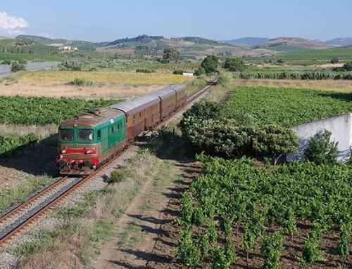 Il treno delle conserve e dei formaggi nel Val di Mazara