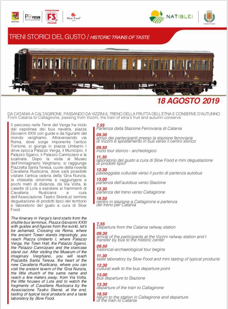 locandina programma treno 18 agosto