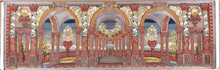 Architetture barocche in argento e corallo