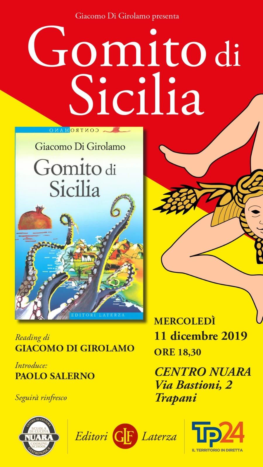 Presentazione del libro Gomito di Sicilia di Giacomo di Girolamo