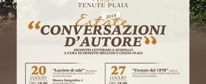 Conversazioni d'autore 2018 - Incontri letterari a Scopello